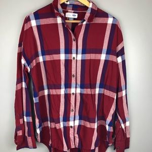 Old Navy Boyfriend Plaid Button Down